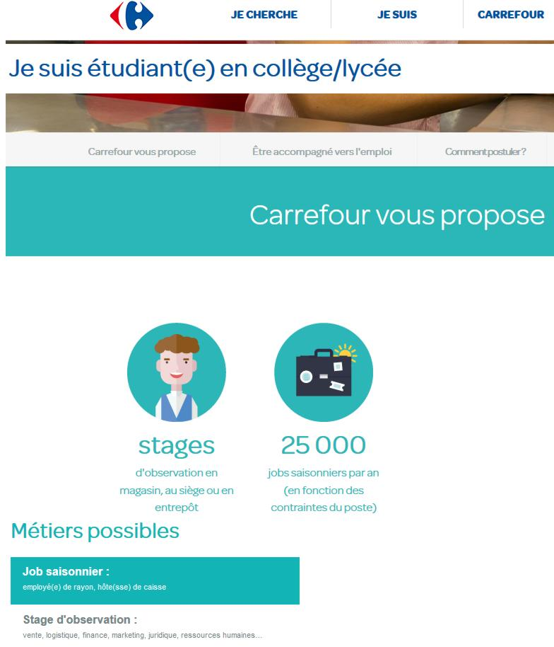 18 Jobs Hiver Groupe Carrefour