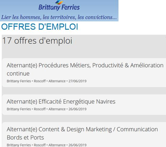 19 Brittany Ferries Jobs