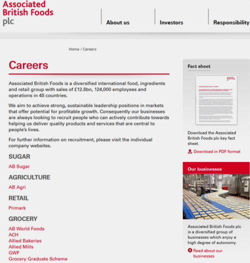 16 Associated British Foods Careers