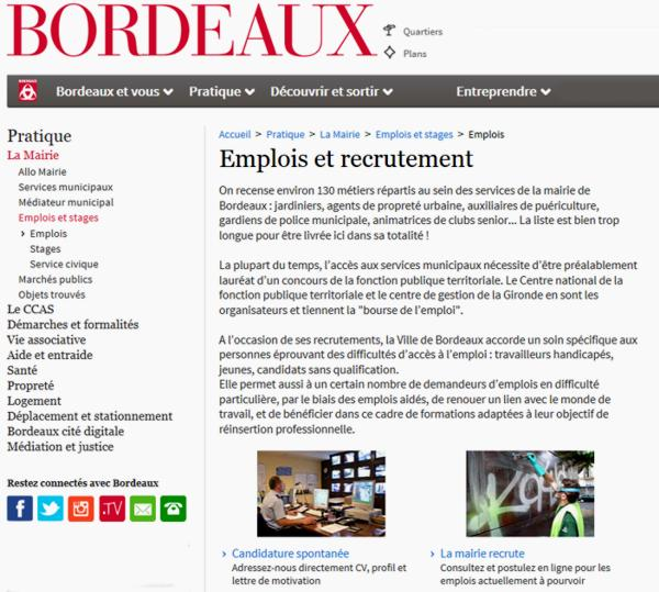 16 Mairie Bordeaux Site Recrutement Stages