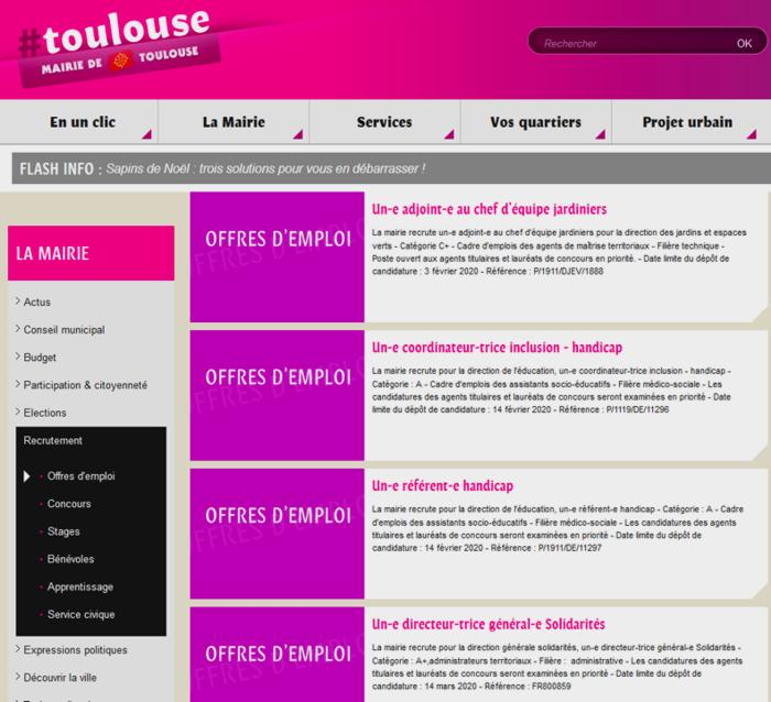 20 Mairie Toulouse Offres