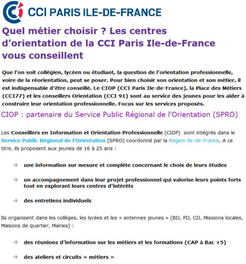 18 CCI Paris IDF