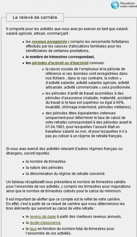 17 Info Releve carriere