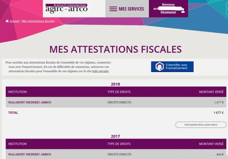 19 Agirc Arrco Attestations fiscales 1